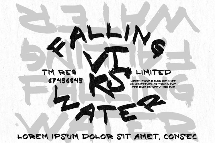 vtks falllingwater Font