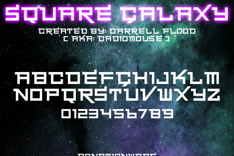 Square Galaxy Font