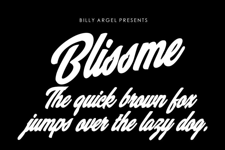 Blissme Font