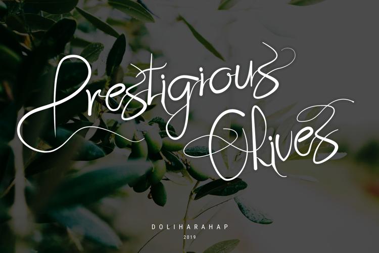 Prestigious Olives Font