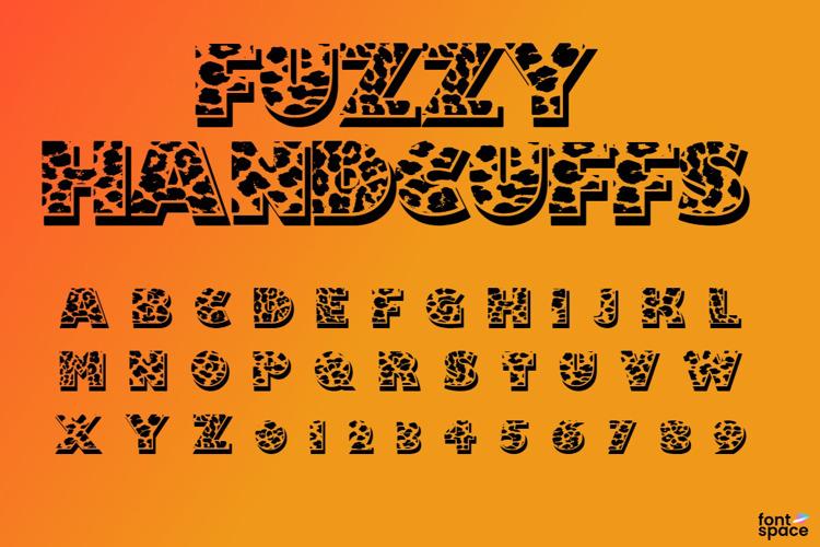 Fuzzy Handcuffs Font