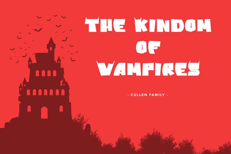 Vampire Bats Font