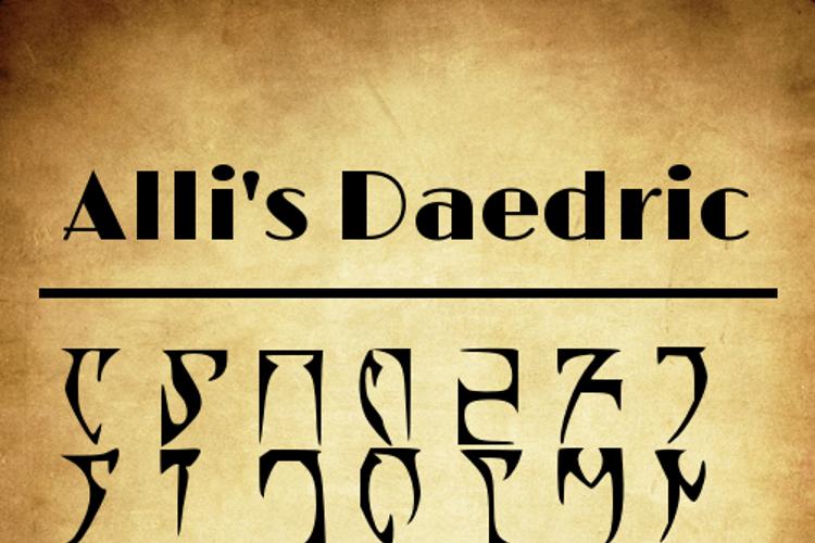 Alli's Daedric Font