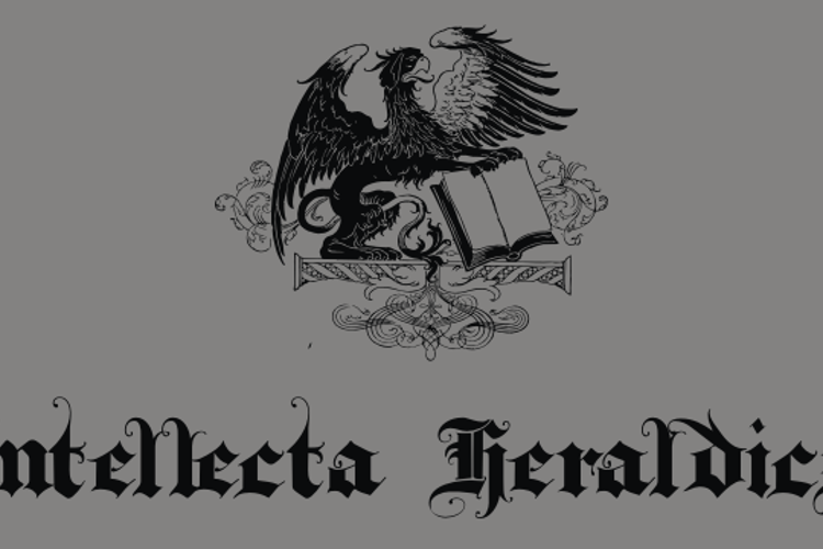 IntellectaHeraldics Font