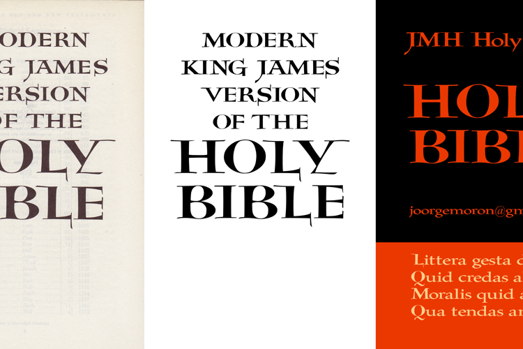 JMH Holy Bible Font