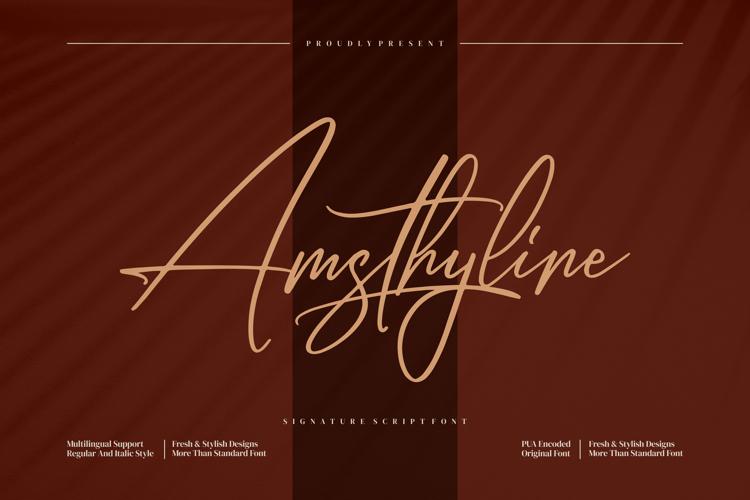 Amsthyline Font