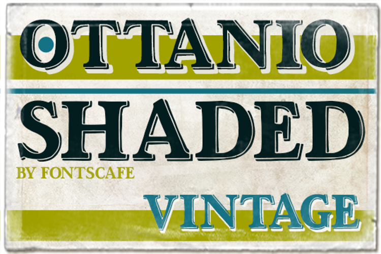 Ottanio Shaded Font