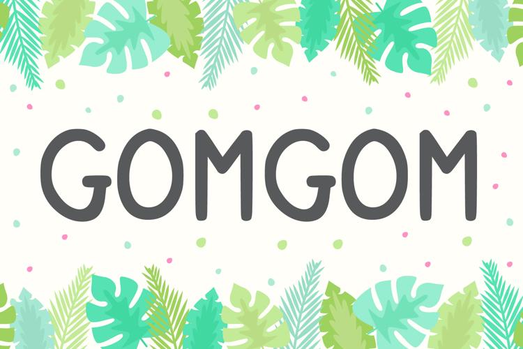 Gomgom Handwrite Font