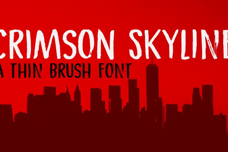 Crimson Skyline Font