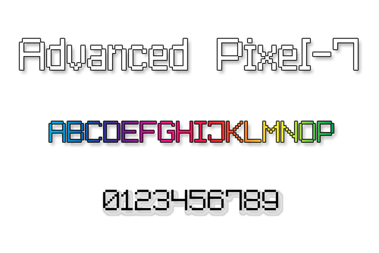 Advanced Pixel-7 Font