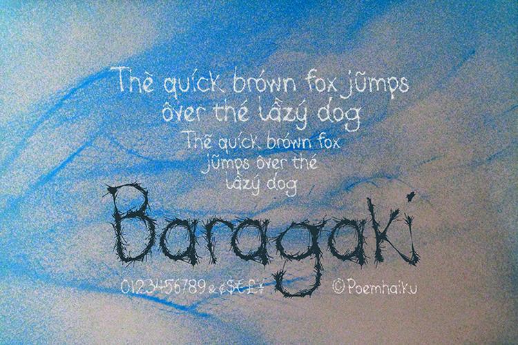 Baragaki Demo Mix Font
