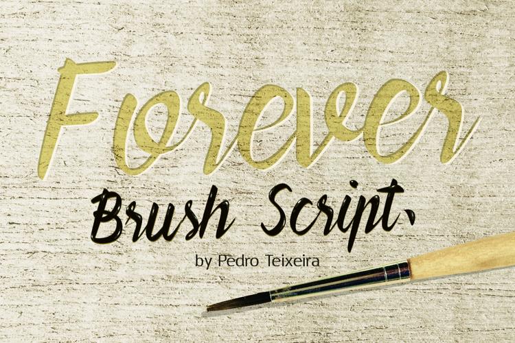Forever Brush Script Font