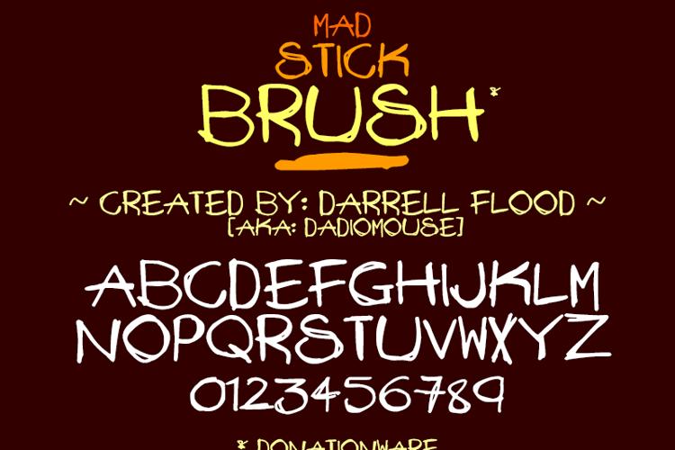 Mad Stick Brush Font