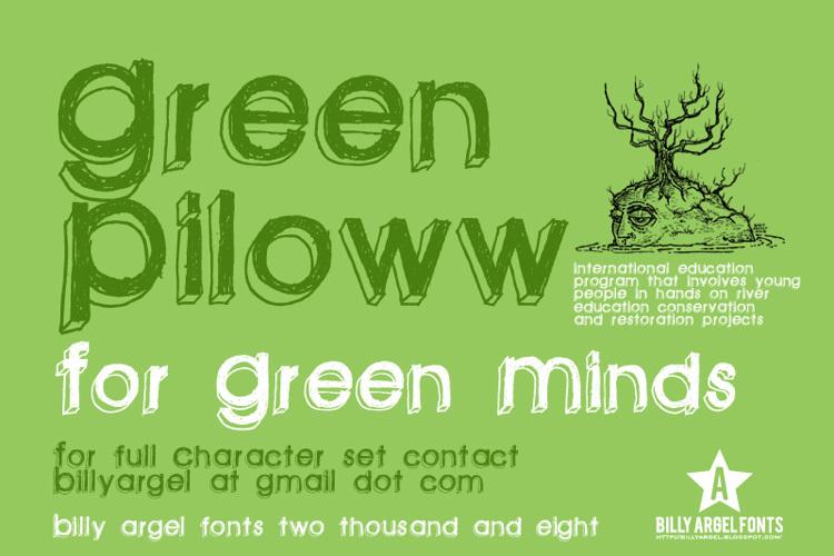 green piloww Font