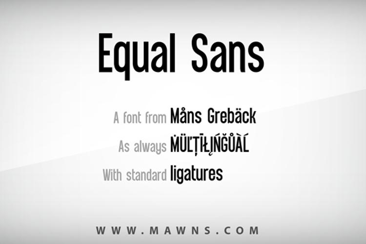 Equal Sans Demo Font