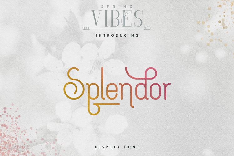 SPLENDOR Font