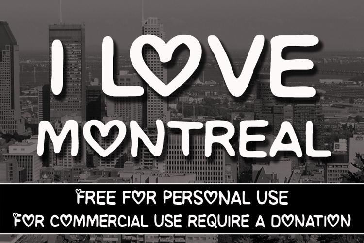 CF I love Montreal Font