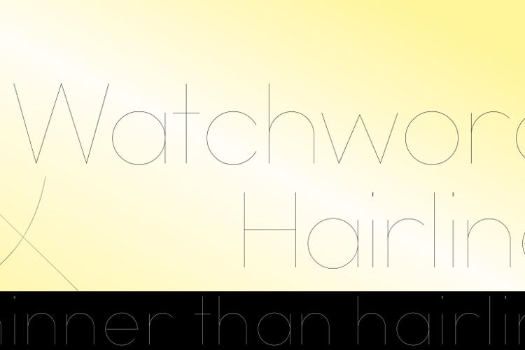 Watchword Hairline Demo Font