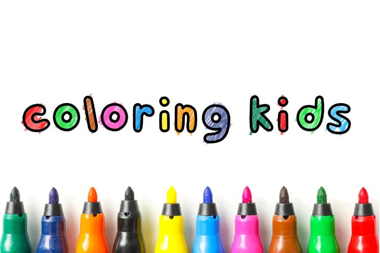 Coloring Kids Font