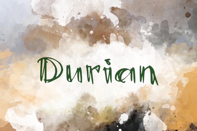 d Durian Font