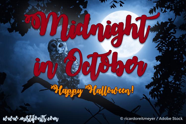 Midnight in October Font