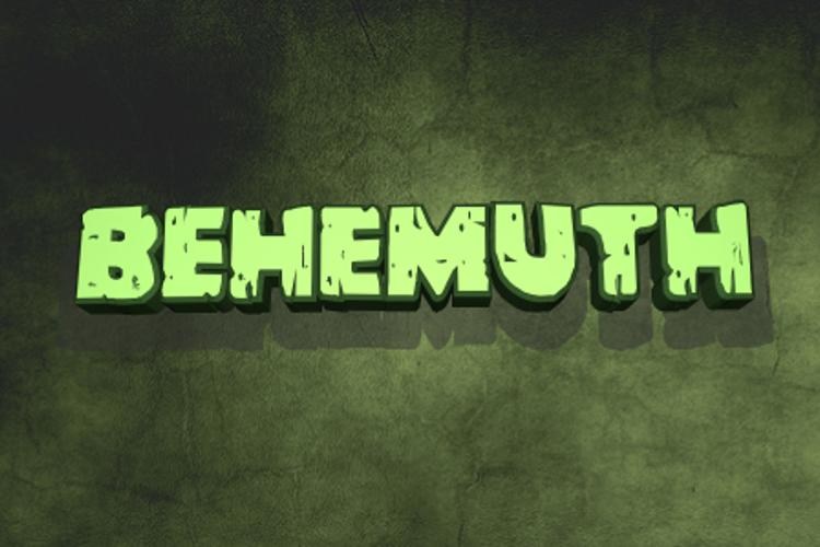 Behemuth Font