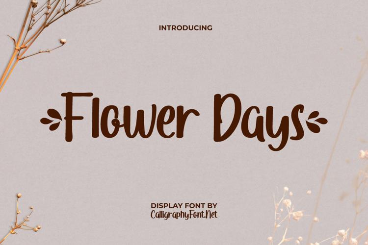 Flower Days Font