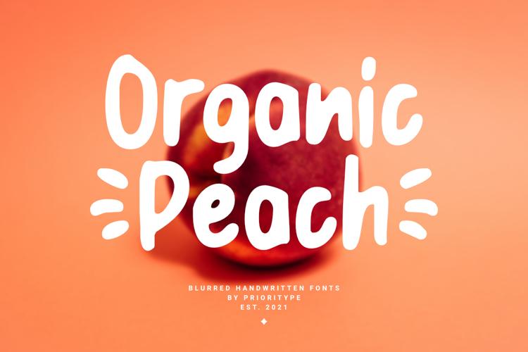 Organic Peach Font