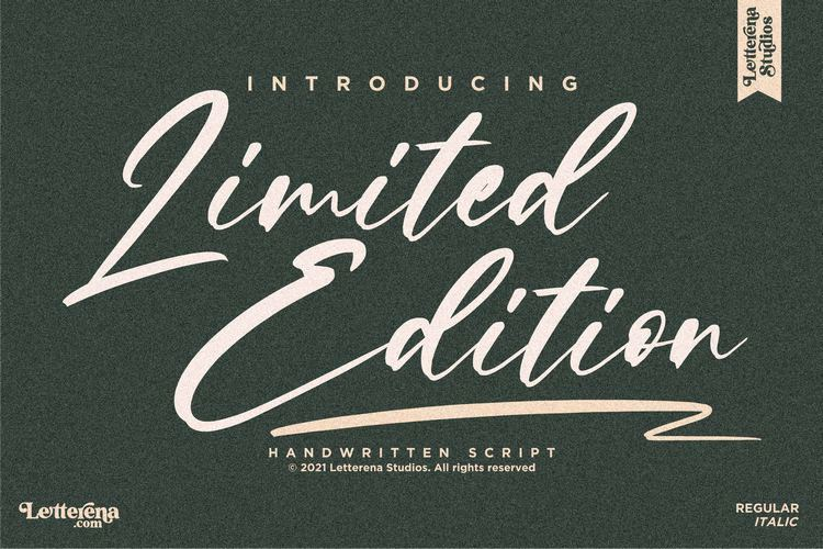 Limited Edition Font