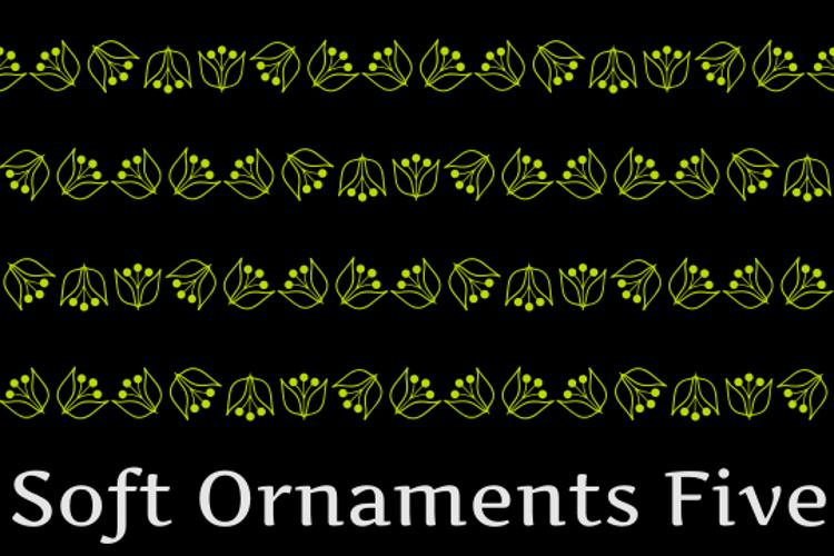 Soft Ornaments Five Font