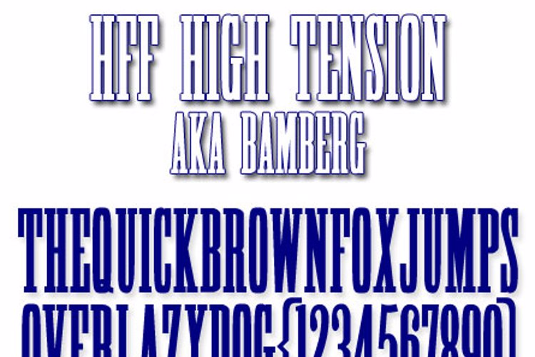 HFF High Tension Font