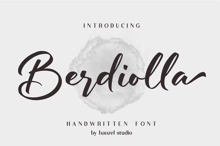 Berdiolla Font