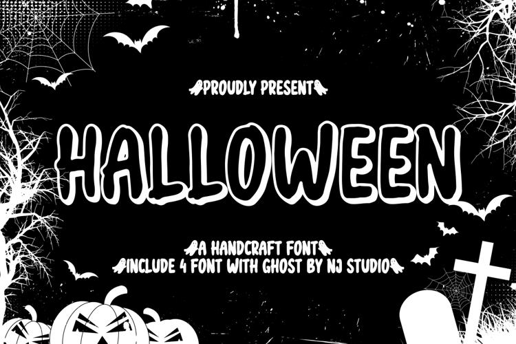 halloween outline Font