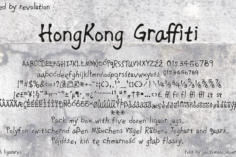 HongKong Graffiti Font