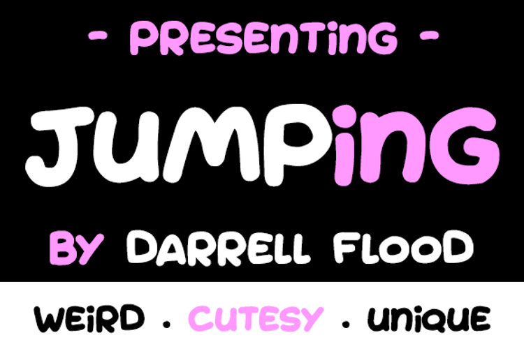 Jumping Font