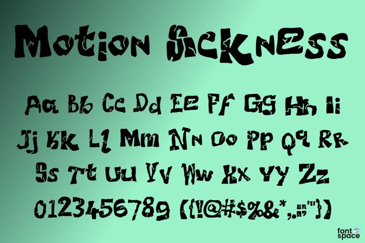 Motion Sickness Font