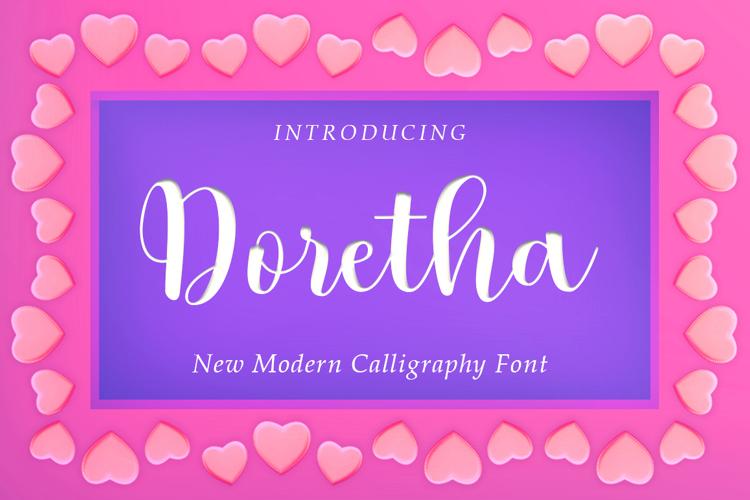 Doretha Script Font