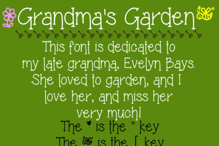 Grandma's Garden Font