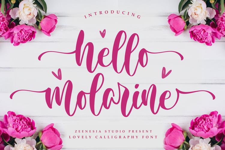 Hello Molarine FOR Font
