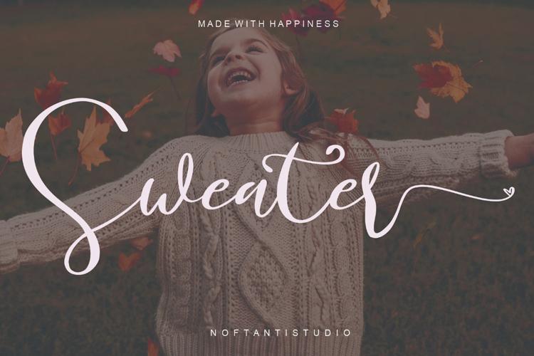 Sweater Script Font