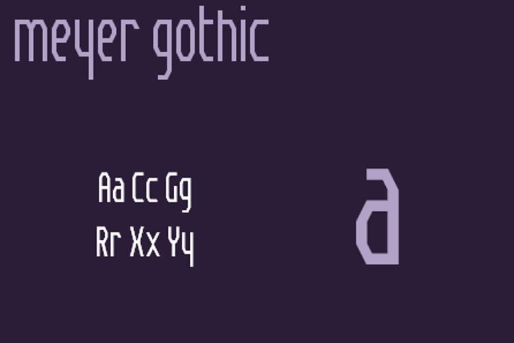 Meyer Gothic NBP Font