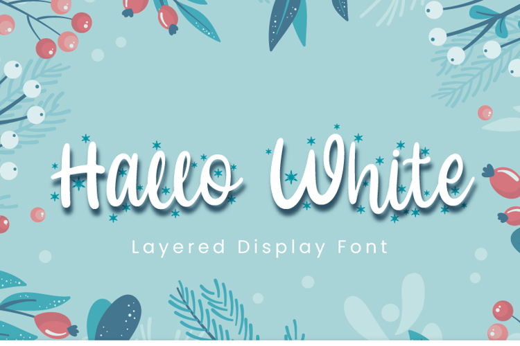 Hallo White Font