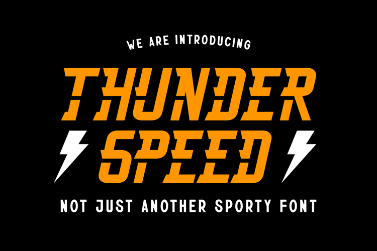 Thunderspeed Font