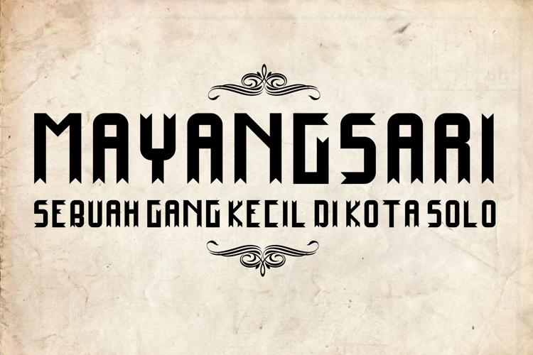 Mayangsari Font