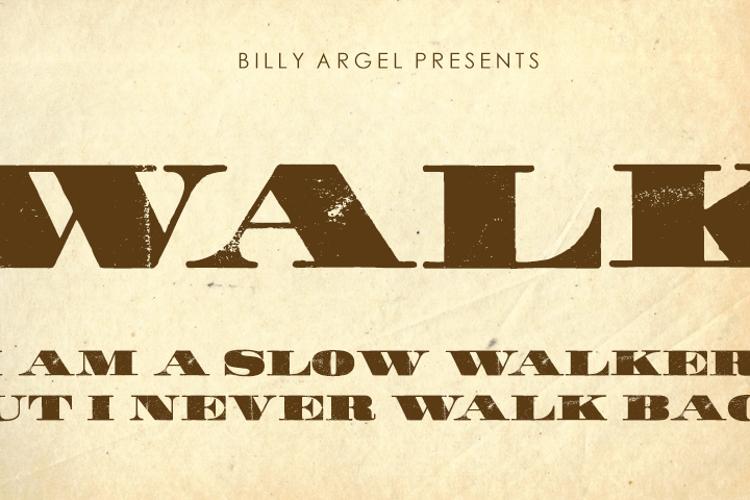 WALK Font