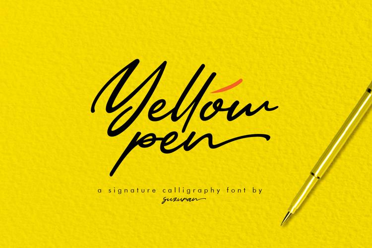 Yellow Pen Font