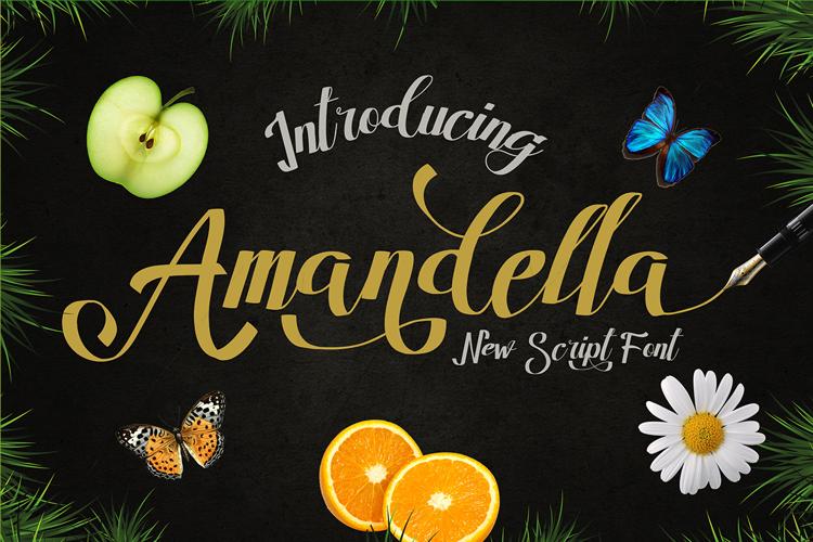 Amandella Script Font