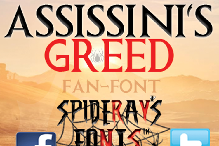 ASSISSINIS GREED Font