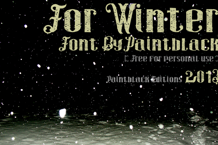 For Winter Font