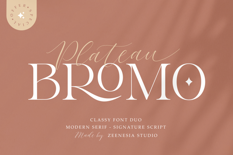 Bromo Plateau Serif Font